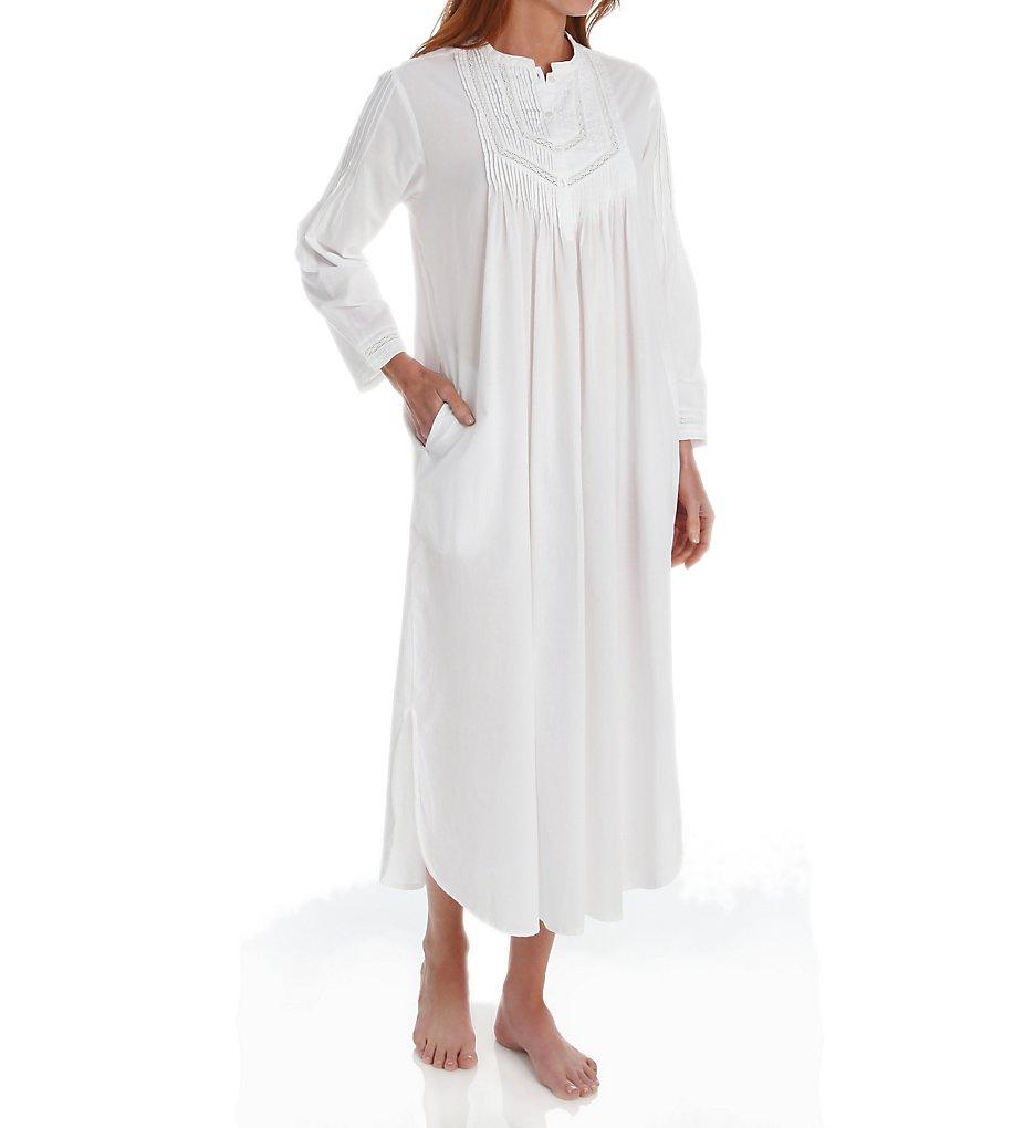 La Cera 1060G Long Sleeve Cotton Nightgown
