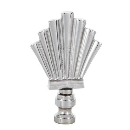 - B&P Lamp® Nickel Finish Metal Fan Shaped Finial