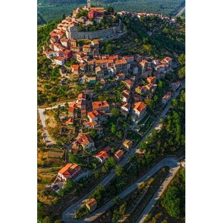 Aerial View of Motovun Croatia Journal: 150 Page Lined -