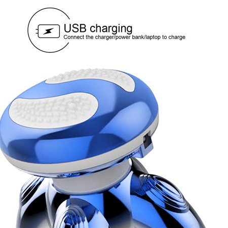 New Mini Massager Four-angle Triangle Usb Electric Vibration Small Charging Mini Luminous Massager Wholesale - image 3 of 6