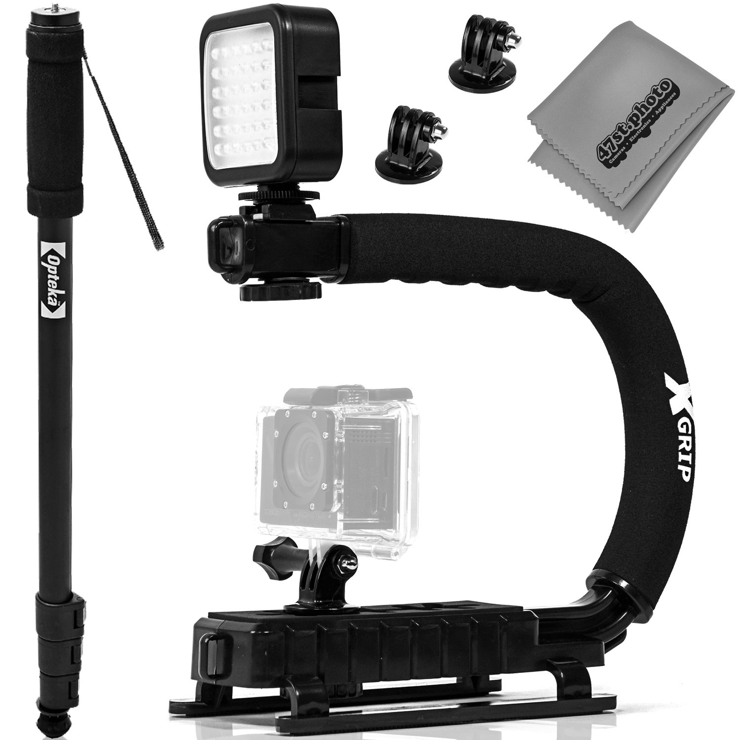 Opteka X-GRIP Professional Camera / Camcorder Action Stab...