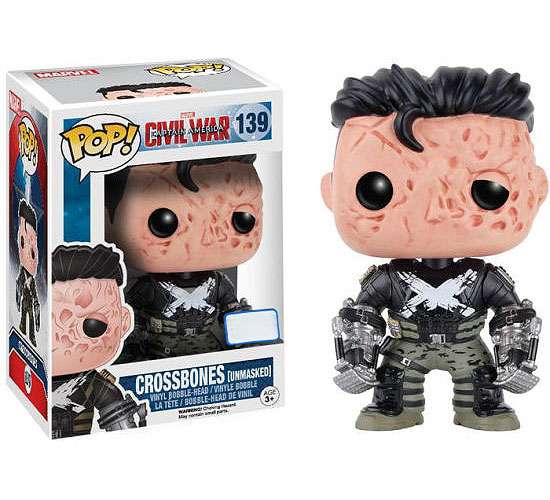Marvel Figurine (Funko POP! Marvel Crossbones Vinyl Bobble Head [Unmasked])