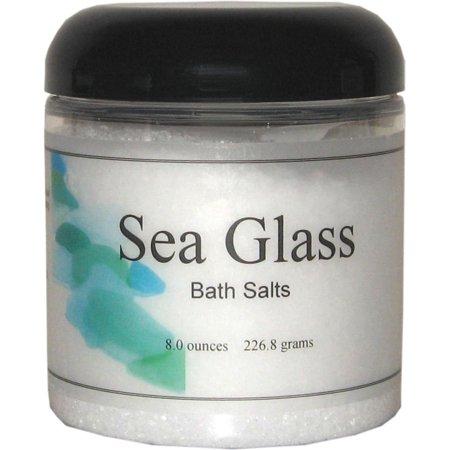 Sea Glass Bath Salts, 8 ounces 6 Bath Sea Salt Glass