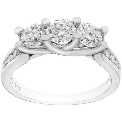 1.5 Carat T.w. Diamond 3-stone Anniversa