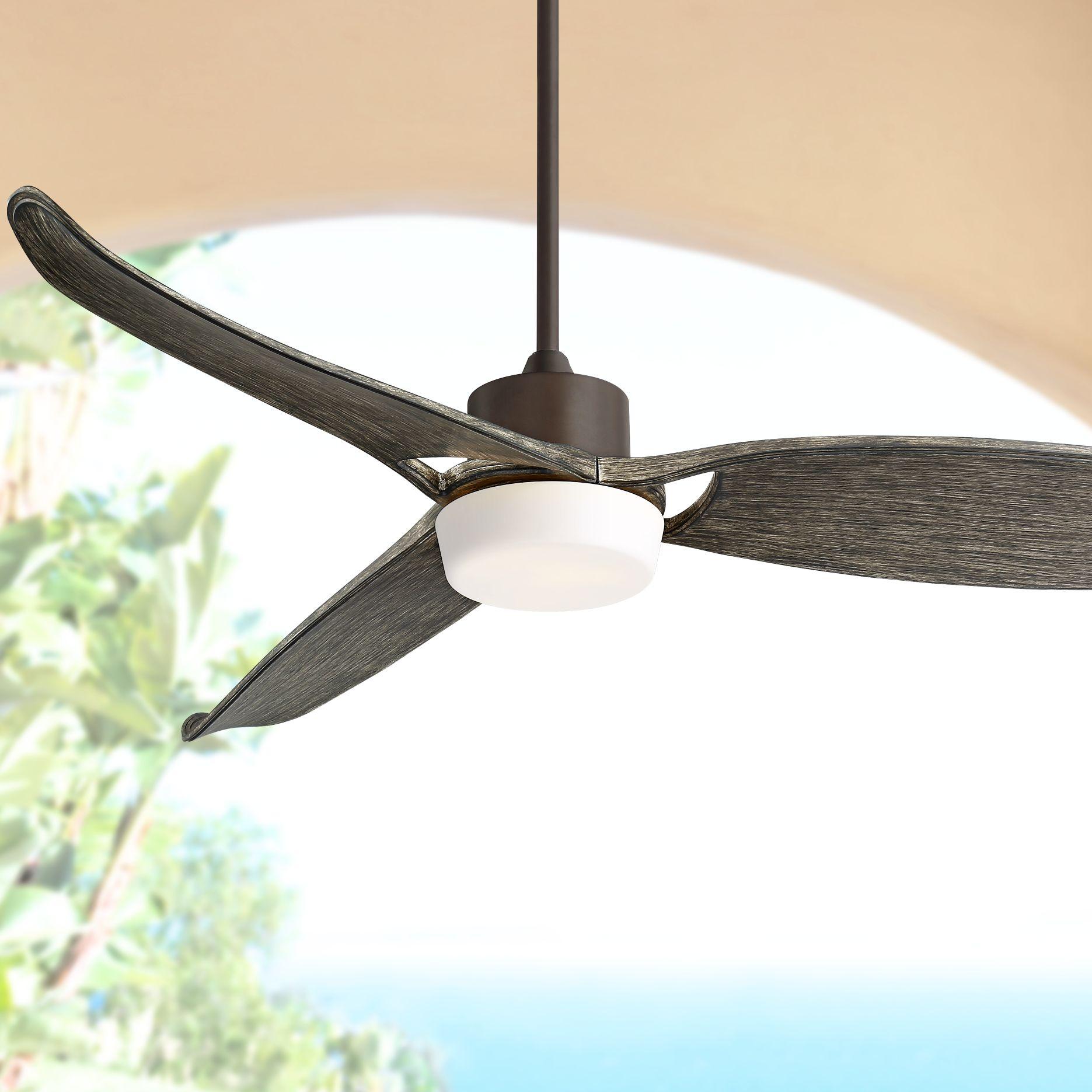 "Casa Vieja 60"" Eurostyle Bronze Indoor-Outdoor LED Ceiling Fan"