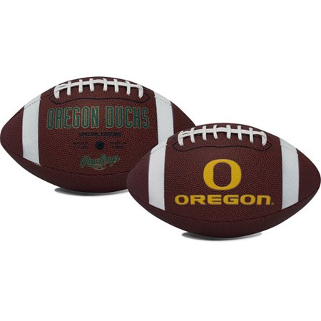 Rawlings Gametime Full-Size Football, Oregon - Green Collegiate Football