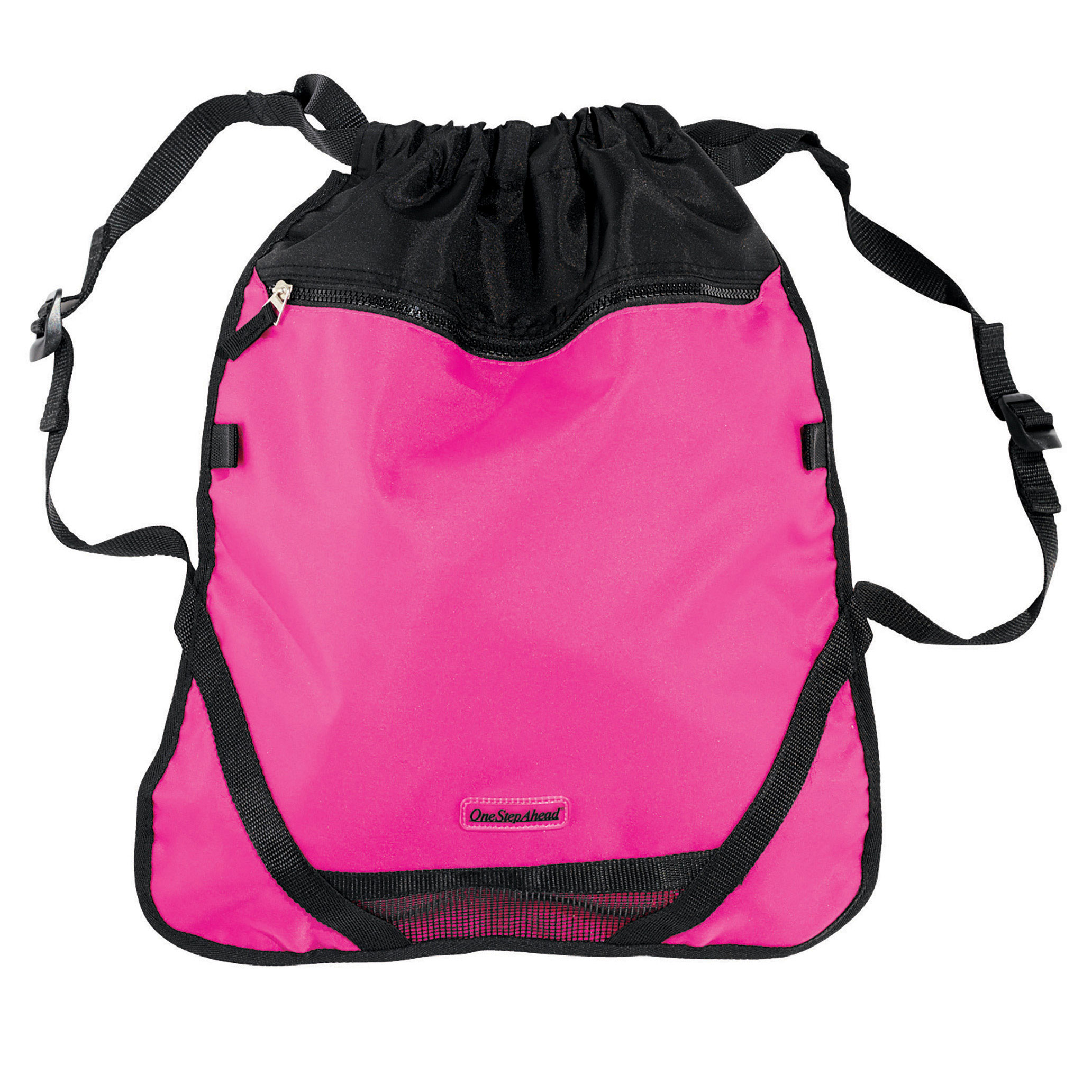One Step Ahead Children's Pink Athletic Backpack - Lightweight Drawstring Bag