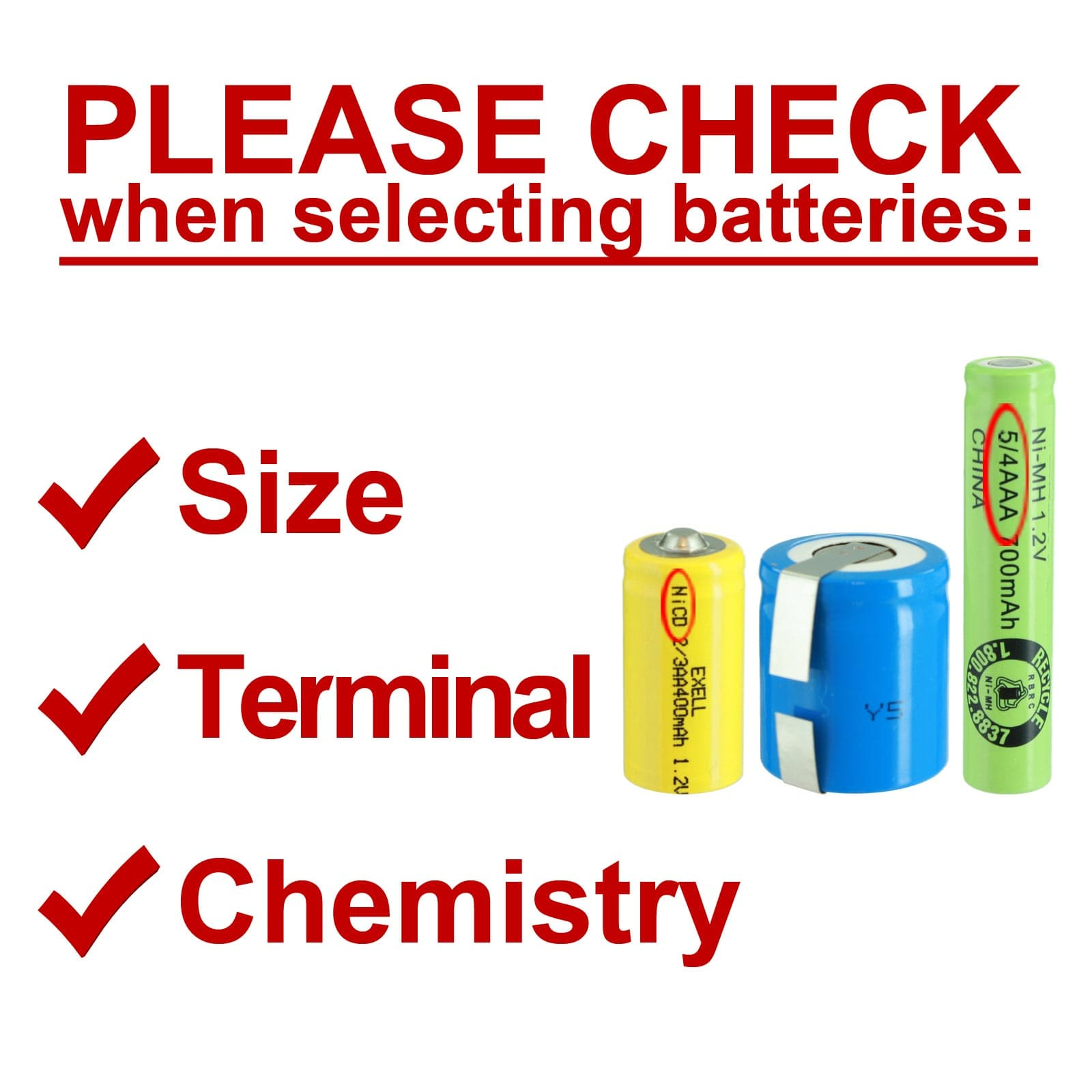 FRS 2x AAA 1.2V 300mAh Rechargeable Batteries w//Tabs For Razor Solar DIY Pack