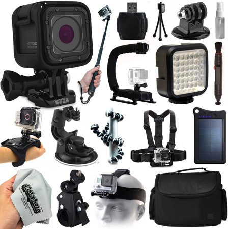 gopro hero5 session hd action camera chdhs 501 everything you need 18 pie. Black Bedroom Furniture Sets. Home Design Ideas