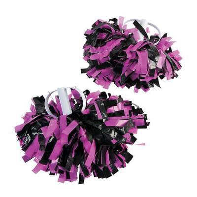 IN-13745005 Pink & Black Spirit Show Pom-Poms