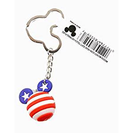 Icon Ball Key Chain - Disney - Mickey Key Ring - Flag New 85559
