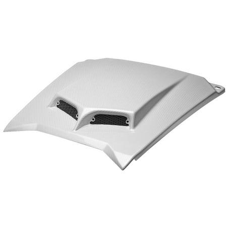 Maier Mfg 194641 Custom Hood Scoop - White Carbon Fiber