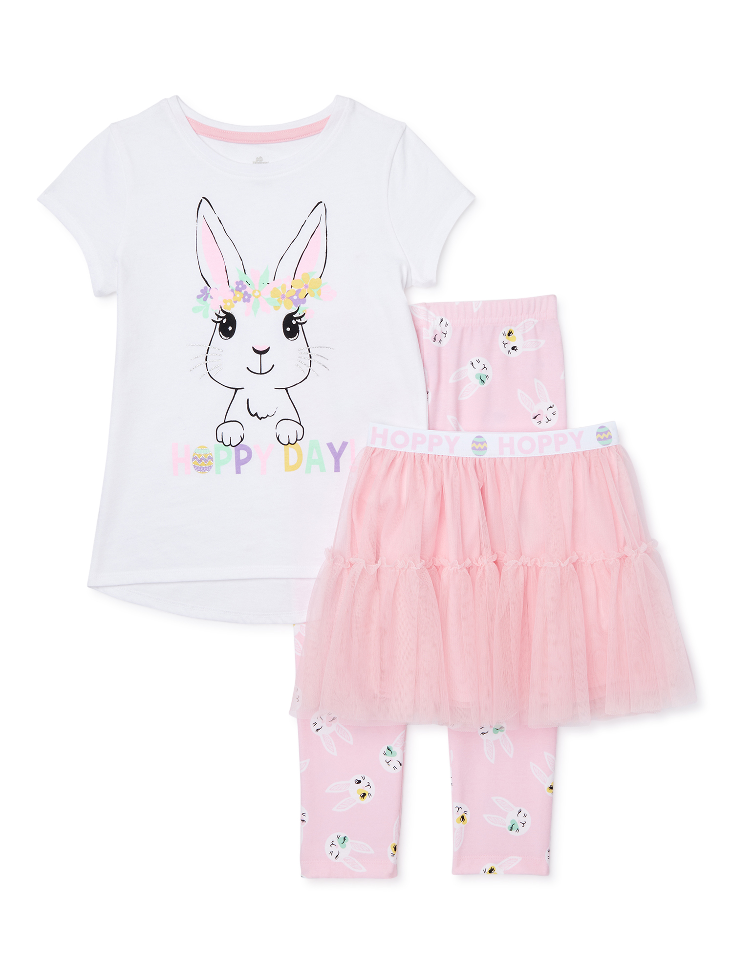 Pink Bunny Baby Girl Shirt Pants Easter Clothing Preemie Newborn Baby Sizes