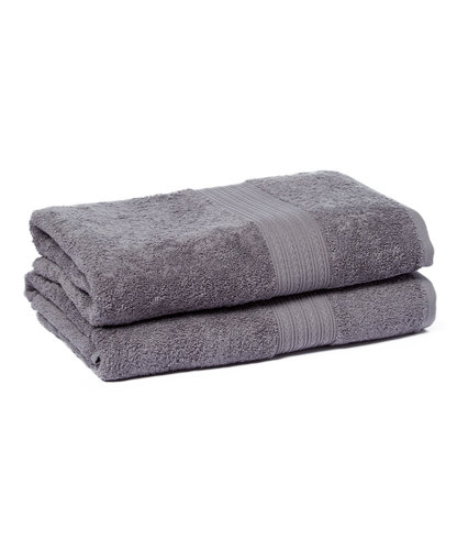 Goza Towels Cotton Bath Towels (2 Pack, 28 by 56 inches) Grey by