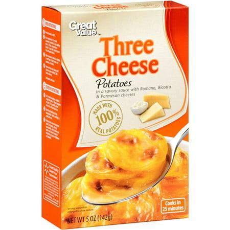 Great Value Three Cheese Potatoes, 5 oz - Walmart.com