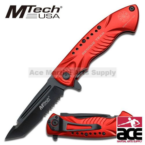 MTech Folder Knife - Rescue Team - Fire Fighter