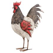 Regal Country Rooster Decor Black/White