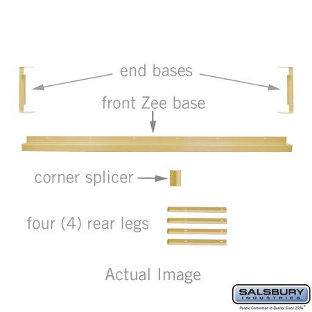 "Zee Base Kit - 4 Inches High, 6 Foot Length - for 12"" Deep Metal Lockers - Tan"