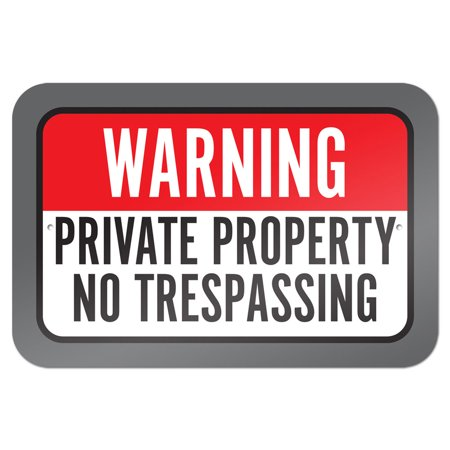 Warning Private Property No Trespassing 9