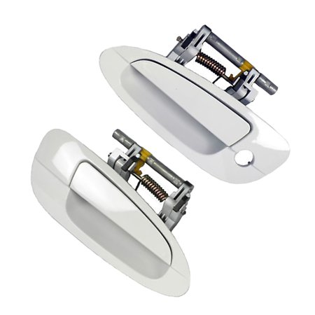 Brand New For 2002-2006 Nissan Altima Cloud White QM1 Exterior Outer Door Handle SET Front Right and Front Left 02 03 04 05 06