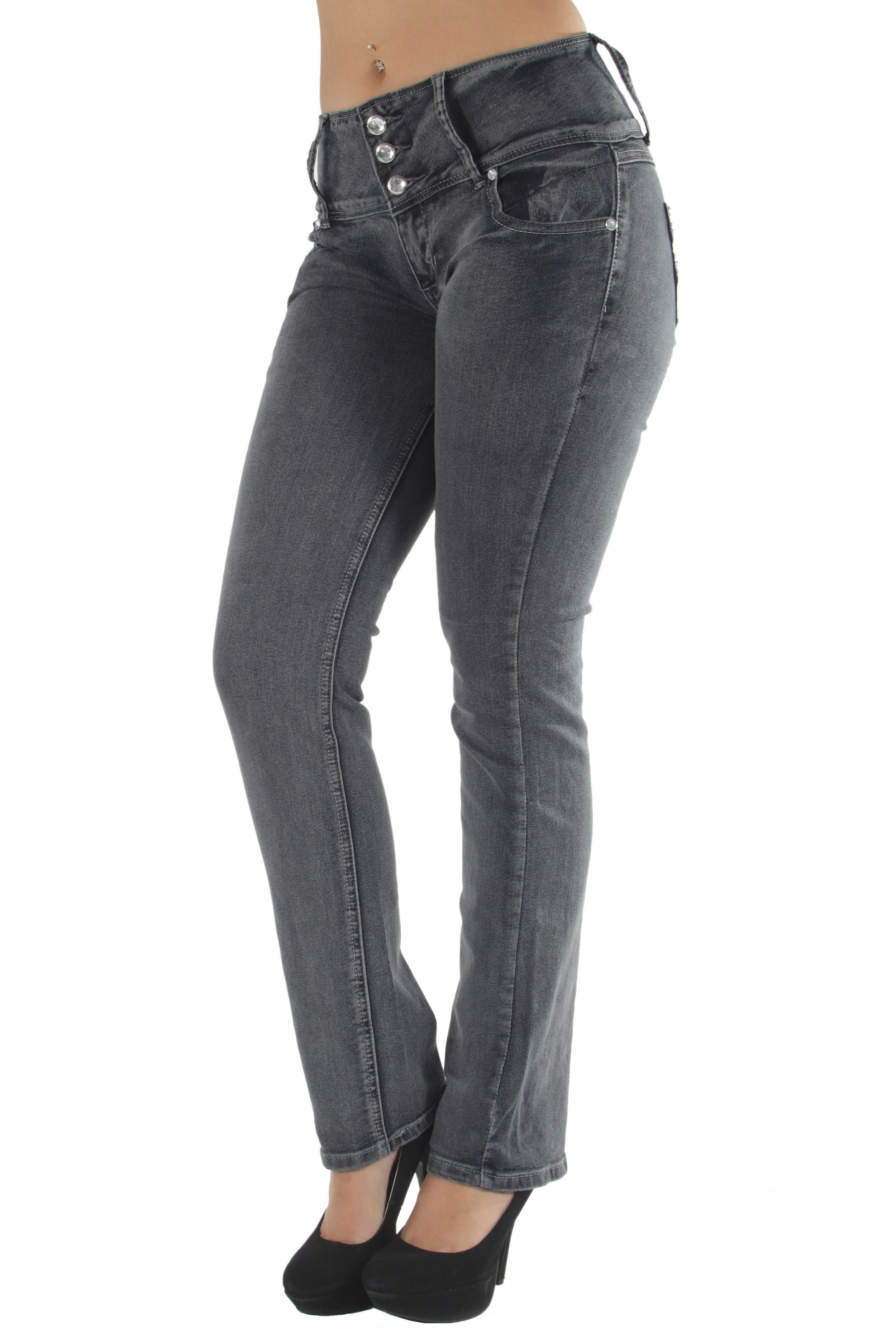 Style C582P - Plus Size High Waist Butt Lifting Stretch Boot Leg Jeans