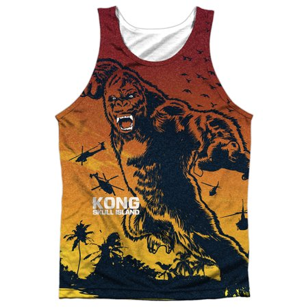 Kong Skull Island In The Jungle Mens Sublimation Tank Top Shirt