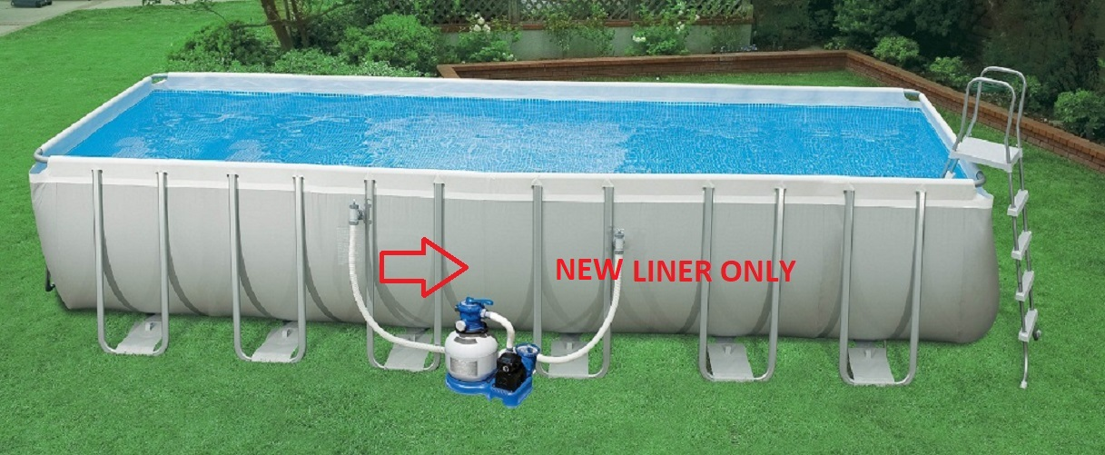 Intex POOL LINER ONLY Ultra Frame Swimming Pool 24 x 12 x 52 by Intex