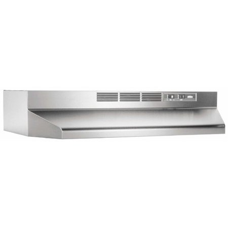 Broan 4136 36u0022 Wide Steel Non Ducted Under Cabinet Range Hood with Charcoal Filt