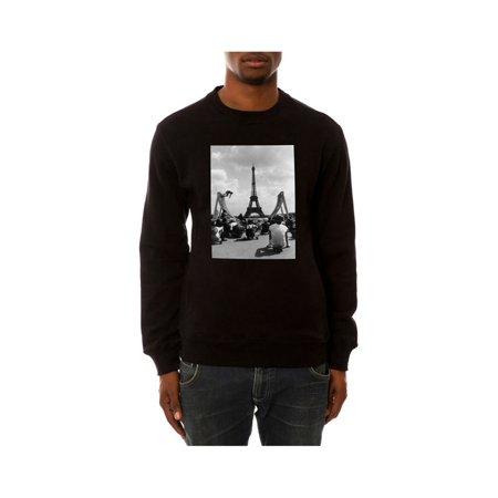 DOPE Mens The Skating In Paris Sweatshirt black S - image 1 of 1