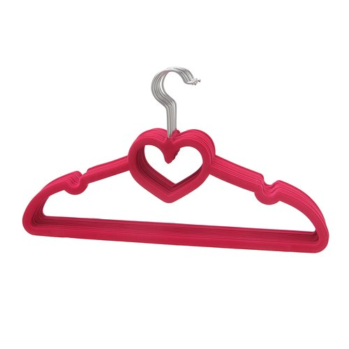 BriaUSA Heart Shaped Sturdy Slim Clothes Hanger (Set of 10)