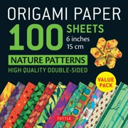 "Origami Paper 100 sheets Nature Patterns 6"" (15 cm) : Tuttle Origami Paper: High-Quality Origami Sheets Printed with 8 Different Designs: Instructions for 8 Projects Included"