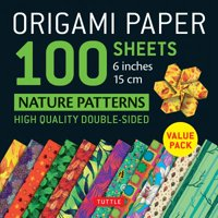 """Origami Paper 100 sheets Nature Patterns 6"""" (15 cm) : Tuttle Origami Paper: High-Quality Origami Sheets Printed with 8 Different Designs: Instructions for 8 Projects Included"""