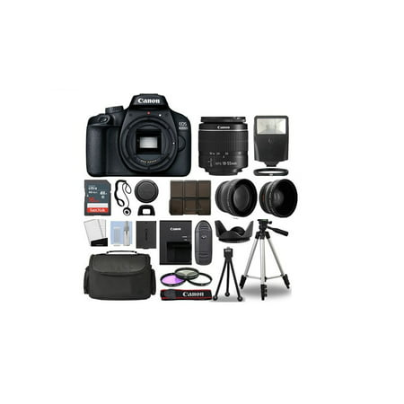 Canon EOS 2000D Rebel T7 Kit with EF-S 18-55mm f/3.5-5.6 III Lens + Accessory Bundle +One Stop Shop Deals Cloth