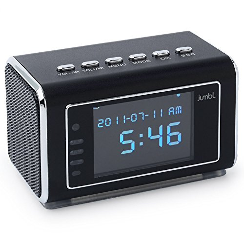 Jumbl Mini Hidden Spy Camera Radio Clock wih Motion Detection and Infrared Night
