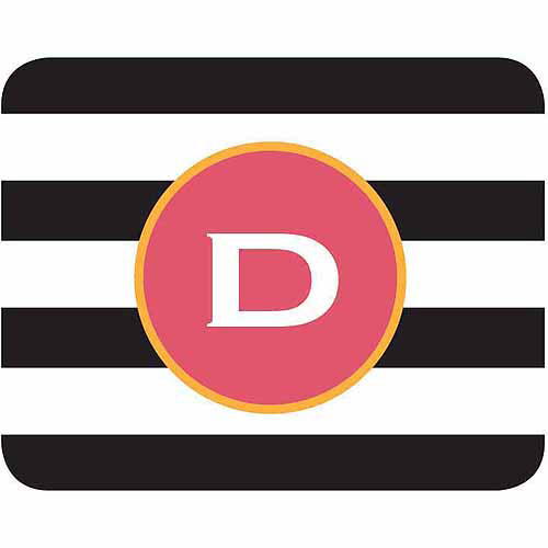 Personalized Black and White Stripes Mouse Pad