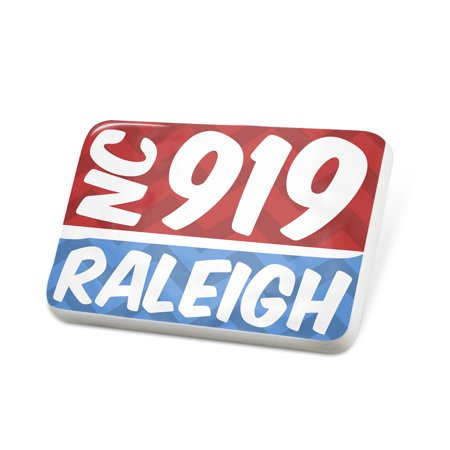 Porcelein Pin 919 Raleigh, NC red/blue Lapel Badge – NEONBLOND (Halloween Store Raleigh Nc)