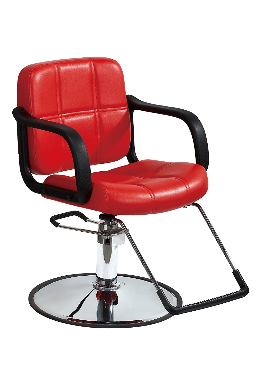 Red Hydraulic Barber Chair Styling Salon Beauty Equipment - Walmart.com