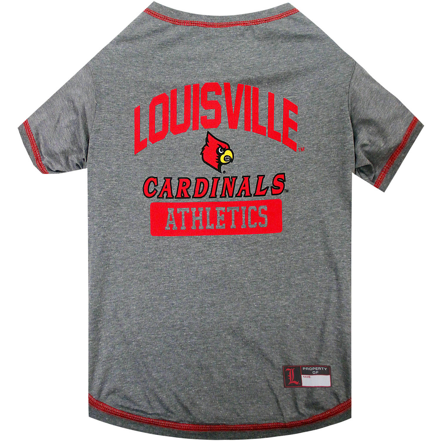 Pets First Collegiate Louisville Cardinals Pet T-shirt, Assorted Sizes