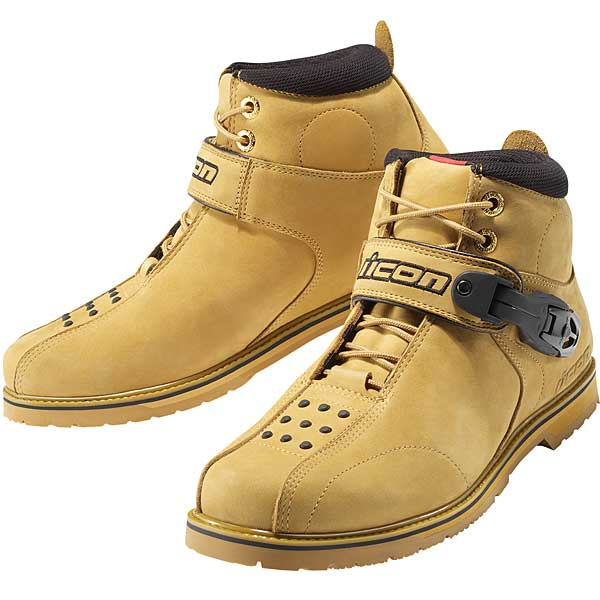 Icon SuperDuty 4 Motorcycle Boots Wheat 12
