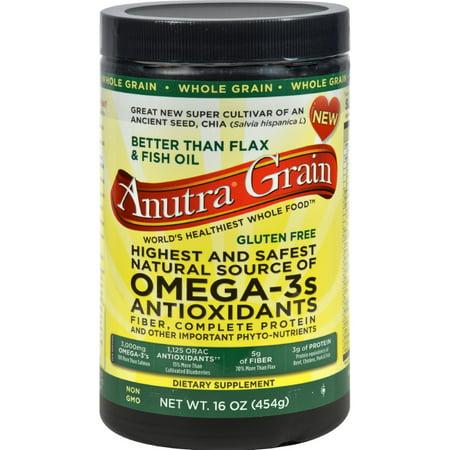 Anutra Omega 3 Los antioxidantes fibra y proteína completa de grano entero - 16 oz