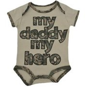"""United States Air Force """"My Daddy My Hero"""" Baby Embroidered Bodysuit 9-12M"""
