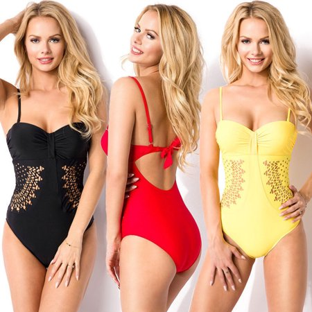 Sexy Women Swimwear One Piece Swimsuit Monokini Push Up Bikini Bathing Beachwear