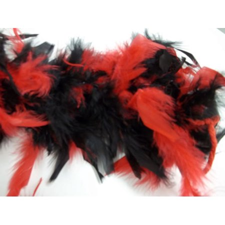 Red Black Chandelle Feather Boa 72
