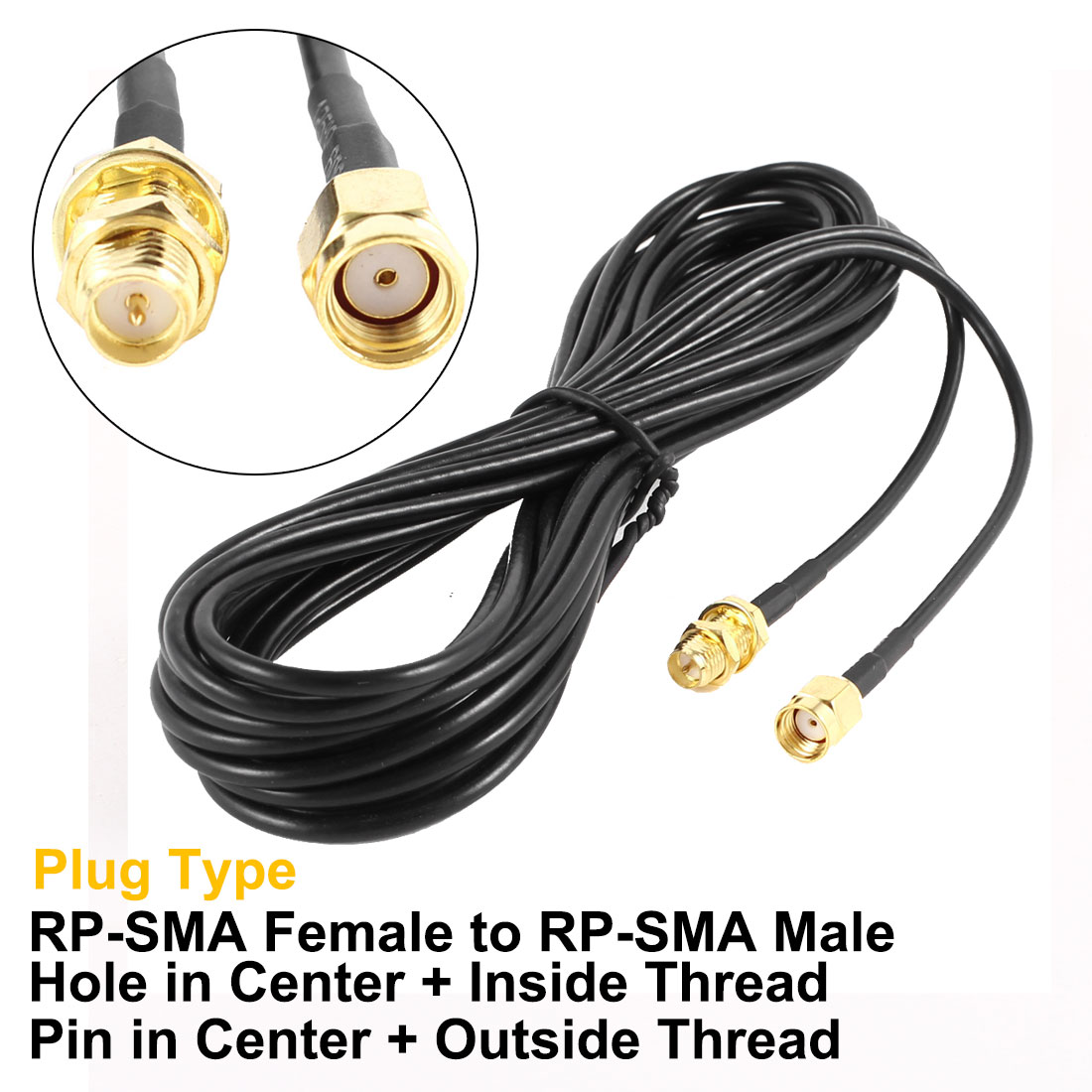 Antenna Adapter RP-SMA Male to Female Extension Cable for WIFI Router 10M