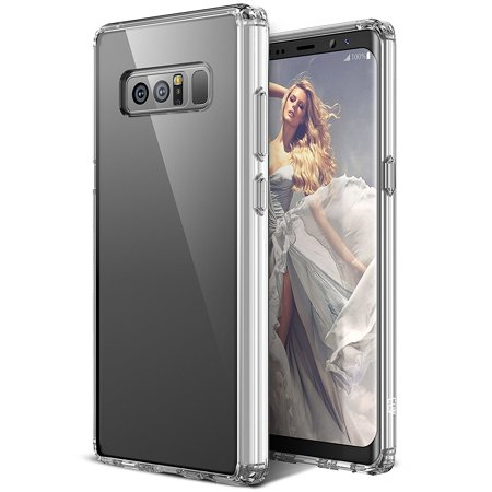 Galaxy Note 8 Case, ELV Clear Slim Anti Scratch Non-Slip Grip Non-Bulky Full Body Shockproof Protective Case Cover for Samsung Galaxy Note 8