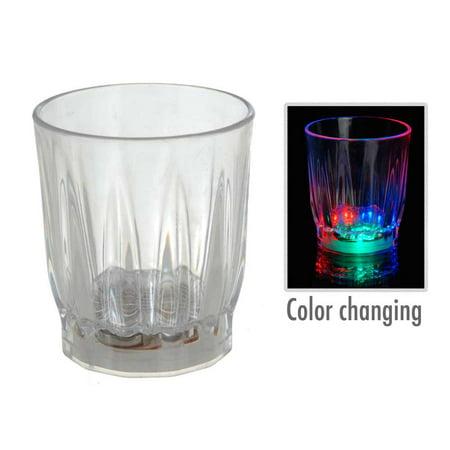 Led Shot Glasses (2 LED Flash Light Whisky Shot Drink Glass Cup On Off Beer Bar Party Wedding)