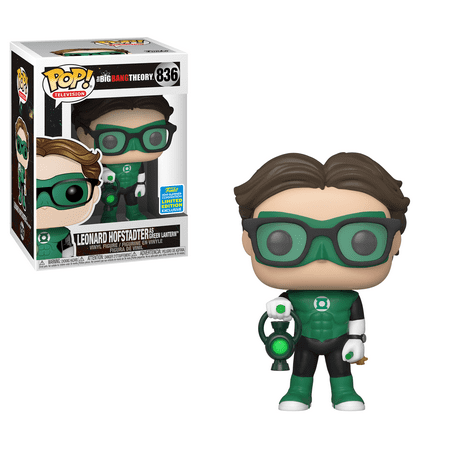 Funko POP TV: Big Bang Theory - Leonard as Green Lantern (Justice League Halloween) - Summer Convention Exclusive