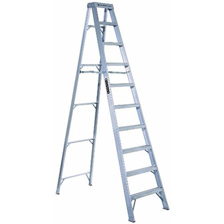 Louisville Ladder 12-Foot Aluminum Step Ladder, Type IA, 300-pound Load Capacity, AS1012
