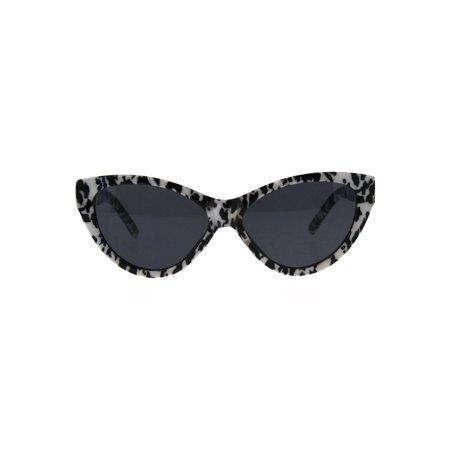 Womens Retro Cat Eye Mod Plastic Goth Sunglasses White Tortoise (Tortoise Cat Eye Sunglasses)