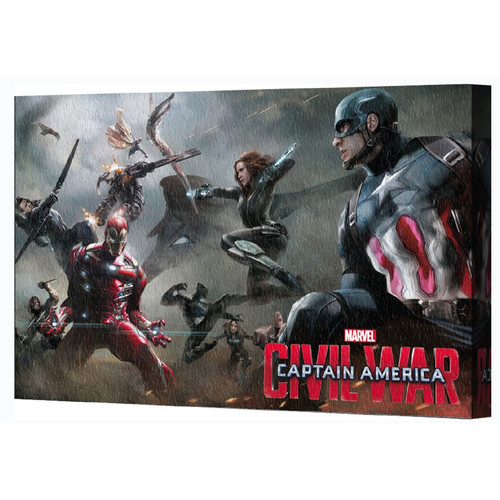 Pyramid America Captain America: Civil War Battle Canvas Wall D cor